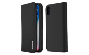 Husa Bookcase DUX DUCIS Wish Genuine Leather iPhone XR black