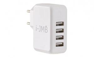 Incarcator USB alb 4 porturi