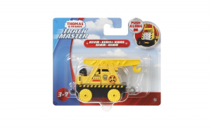 Thomas locomotiva Mattel push along galbena