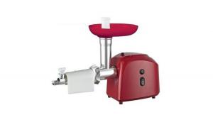 Masina de tocat Victronic, Accesorii rosii si carnati, 1200 W, Rosu + Set cutite 3 piese