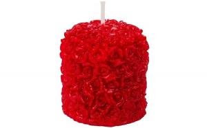 Lumanare. model cu trandafiri rosii in