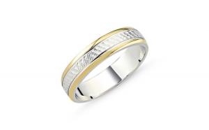 Inel argint lat placat cu aur pe