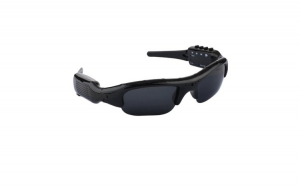 Ochelari sport cu camera video HD, toc transport, laveta, negru, unisex