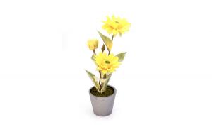 Floare decorativa in ghiveci, galben, 29