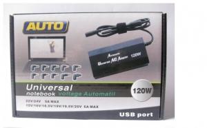 Incarcator universal laptop 120W - 10 tipuri de conectori, la doar 75 RON in loc de 159 RON