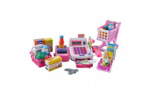Set de joaca pentru copii, casa de marcat cu multiple accesorii