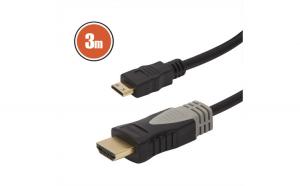Cablu mini HDMI • 3 mcu conectoare