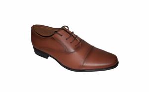 Pantofi eleganti din piele naturala maro si negri