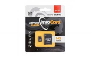 Card memorie IMRO microSD 4GB clasă 10 UHS cu adaptor SD