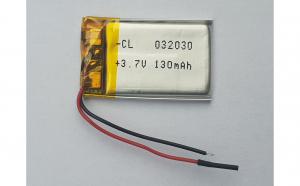 032030 - Acumulator Li-Polymer - 3,7 V - 130mah - 30x20x3 mm