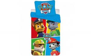 Set lenjerie pat copii Paw Patrol Team