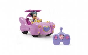 Masinuta fashion a lui Minnie Mouse cu telecomanda si cu papusa