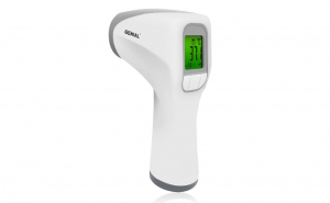 Termometru digital non contact cu infrarosu, pentru copii si adulti, culoare alb
