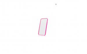 Husa plastic dur margini silicon roz Iphone 5/5S