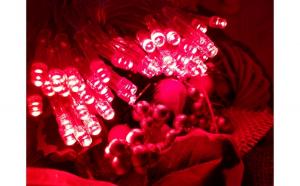 Instalatie de Craciun cu Baterii Fir Transparent Tip Sir 5 m 50 LED -uri Rosu