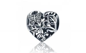 Charm argint 925        cu inimioara cu