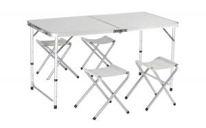 Set pentru camping - masa si 4 scaune pliante