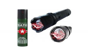 Lanterna-electrosoc + Spray NATO piper
