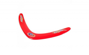 Disc zburator. model bumerang. 26 cm. rosu