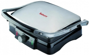 Sandwich-maker mare Saturn ST-EC1150 2000 W, negru, placi grill,bcapacitate 4 sandwich-uri, la 169 RON in loc de 229 RON