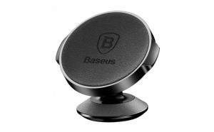 Suport Auto Baseus Magnetic, Small Ears series, Car Mount holder, din Piele, Negru