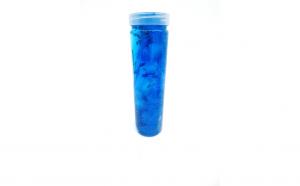 Slime la tub, cu gelatina albastra, perle, stelute si sclipici
