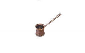 Ibric turcesc stil otoman din zamac, antichizat si inox 70 ml