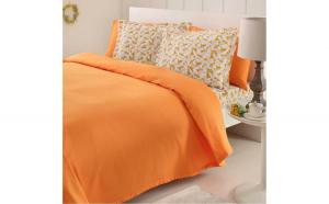 Lenjerie pat cu pled Fashion Orange