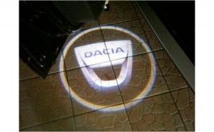 Holograme usi led  cu baterii, Dacia