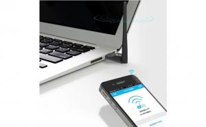 Adaptor wireless usb 2.0, 150 mbps, antena detasabila, wifi