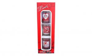 Set 3 recipiente cu lumanari parfumate