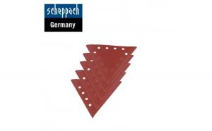 Discuri abrazive triunghiulare pentru masinile de slefuit 10 piese   Granula  ie 100   Scheppach 7903800602
