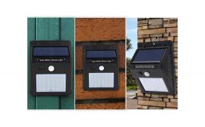 Set de 4 lampi solare, 30 de leduri cu senzor de miscare si de lumina