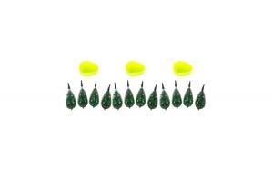 Pachet 3 Seturi de Momitoare Method Feeder 30-40-50-60 gr + Matrita silicon verde fluo