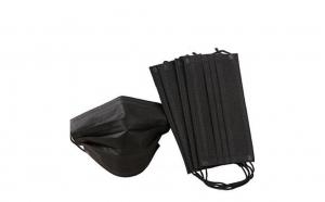 Set de 50 de masti protectie, 3 straturi, 3 pliuri de unica folosinta, negre