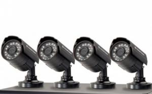 Sistem supraveghere CCTV kit DVR 4 camere exterior/interior, cu HDMI, internet, infrarosu, optiune vizionare de pe Smartphone, accesorii complete