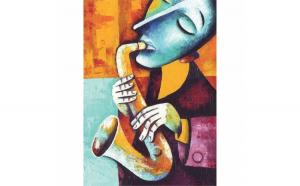 Tablou Canvas Saxomat, 40 x 60 cm, 100% Bumbac