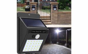 Set 2 lampi solare 30 LED cu senzor de miscare si lumina