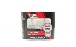 CARGUARD - Set de 2 becuri Halogen H4, 55W, +50% Intensitate - LONG LIFE GLZ-BHA013