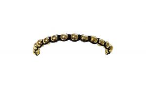 Bratara cu pietre naturale, Onix, Gold