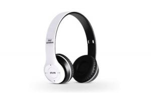 Casti Bluetooth Reflection Vision,Crystal sound Wireless , cu microfon Radio, Bass Aux SD Card, Alb