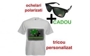 Tricou Fruit of the loom imprimat + ochelari de soare polarizati CADOU