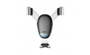 Suport auto Baseus, Mini gravity holder, Argintiu