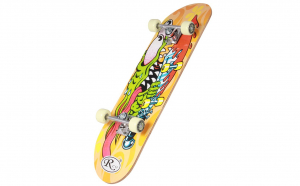 Skateboard din lemn, RCO, PVC, 78,5 cm, Aluminiu, HB2004B