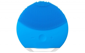 Dispozitiv de curatare faciala, masaj, tip Foreo, Albastru