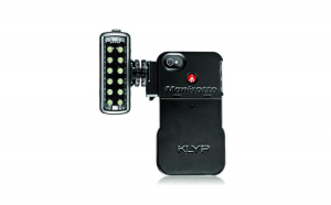 Carcasa iPhone 4 4S cu LED, Manfrotto