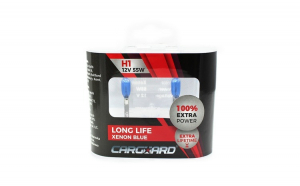 CARGUARD - Set de 2 becuri Halogen H1 +100% Intensitate - LONG LIFE GLZ-BHA021