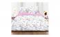 Lenjerie de pat pentru 2 persoane, 100% bumbac, 4 piese, Roz/Alb
