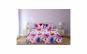 Lenjerie de pat pentru 2 persoane, 144TC, Model flori, 4 piese