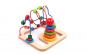 Jucarie Montessori 2 in 1 Labirint cu bile si Piramida Curcubeu, lemn bine finisat, lacuri non-toxice, imbinari solide